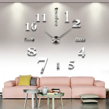 שעון קיר מיוחד 12S015_silver