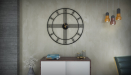 שעון קיר גדול PARIS צבע שחור