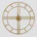 שעון קיר גדול PARIS צבע זהב