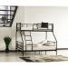 NOVA מיטת קומותיים ממתכת צבע שחור