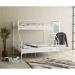NOVA מיטת קומותיים ממתכת צבע לבן