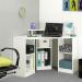 Corner_Desk_שולחן עבודה פינתי עם תאים איחסון לבן מבית ברדקס