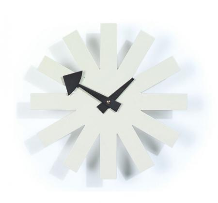 שעון קיר מעוצב Asterisk Clock-White