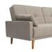 ERICA ספה תלת מושבית נפתחת למיטה צבע בז