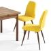 NewMan_כסא לפינת אוכל צהוב
