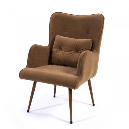Rombus_כורסא מעוצבת צבע חום מהיר