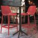 PRIDE כסא בר מפלסטיק צבע אדום