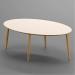 Royal_שולחן סלון קרם