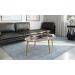 Royal_שולחן סלון אפור עם גידים אפורים