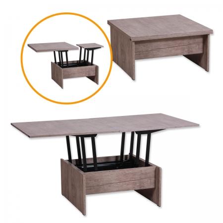 MAGIC_שולחן סלון נפתח לפינת אוכל עתיק