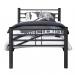Kalia 120 Grey  מיטת מתכת ברוחב וחצי אפור כהה