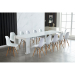 Dominic_שולחן עם כסאות לבן