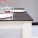 NICE שולחן לפינת אוכל לבן עם בטון