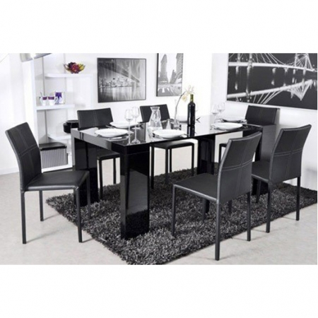 dominic_black שולחן מודולרי נפתח ל3 מטרים