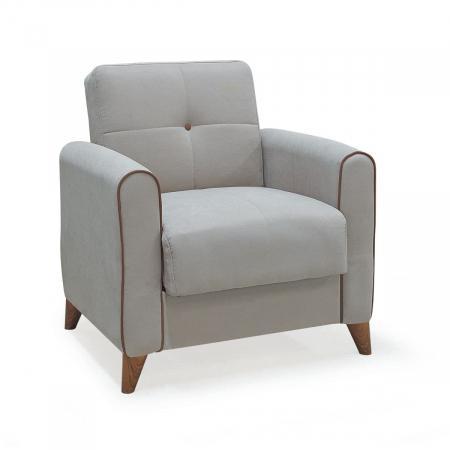 Viola_כורסא בודדת עם ארגז מצעים צבע בז' מבית ברדקס