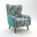 Moda_כורסא מעוצבת מושב פרחים