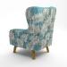 Moda_כורסא מעוצבת מושב טורקיז