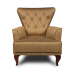 Joy_כורסא יוקרתי מעוצבת צבע חרדל זהב