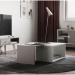 Box_שולחן סלון מודולרי לבן עם קפה מבית ברדקס