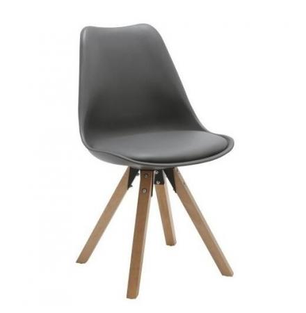 Selbi כסא מעוצב לפינת אוכל אפור