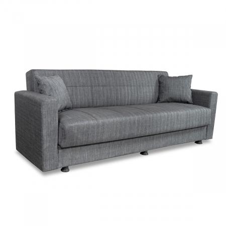 Marbella_ספה תלת מושבית נפתחת למיטה עם ארגז מצעים אפור מבית ברדקס