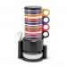 Rainbow_Cup_סט מעוצב בעל 12 כלי הגשה עם מתקן