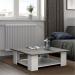 SQUARE שולחן סלון מעוצב לבן עם בטון