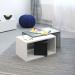 Box_שולחן סלון מודולרי לבן עם בטון מביצ ברדקס