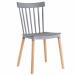 BISTROT כסא מעוצב לפינת אוכל אפור