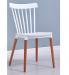 BISTROT כסא מעוצב לפינת אוכל לבן