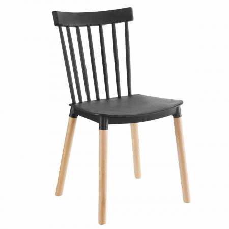 BISTROT כסא מעוצב לפינת אוכל שחור מבית ברדקס