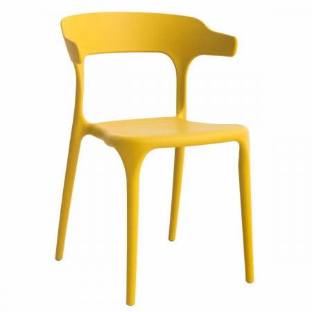 BRASSERIE כסא מעוצב לפינת אוכל צהוב מבית ברדקס