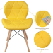 DOVER כסא מעוצב לפינת אוכל צהוב
