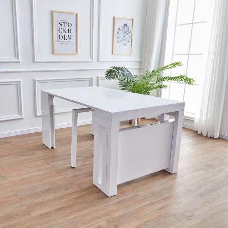 Alba_שולחן קונסולה מודולרי לבן