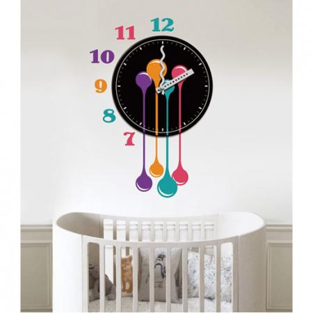 שעון קיר ומדבקה דגם Tears מבית ברדקס