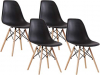 Ursula סט של 4 כסאות צבע שחור