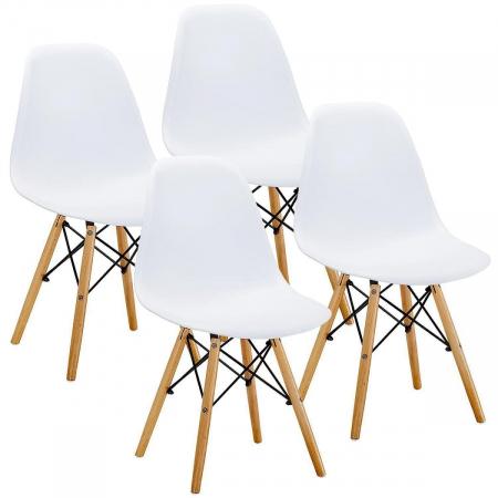 URSULA סט 4 כסאות לבן מבית ברדקס