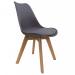 OSCAR כסא מעוצב לפינת אוכל אפור מבית ברדקס