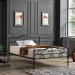TRUVA מיטה ברוחב וחצי ממתכת צבע שחור