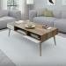 NAPOLI שולחן סלון בוק משולב לבן