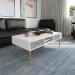 NAPOLI שולחן סלון לבן משולב בטון