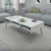 NAPOLI שולחן סלון לבן משולב אפור