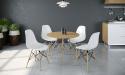 SORENTO שולחן אלון עם כסאות לבן