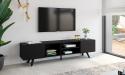 FLORIDA מזנון טלוויזיה ארוך צבע שחור