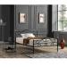 TRUVA מיטה זוגית ממתכת צבע שחור מבית ברדקס