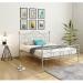 TRUVA מיטה זוגית ממתכת צבע אפור