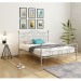 TRUVA מיטה ברוחב וחצי ממתכת צבע אפור