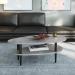 UTAH שולחן סלון עם מדף צבע אפור בטון