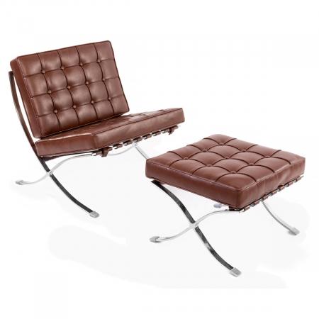 BARCELONA כורסא מעוצבת עם הדום מבית ברדקס
