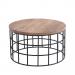 MIAMI שולחן סלון עגול מעץ מלא משולב ברזל